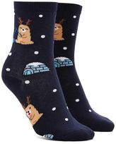 Forever 21 Reindeer Graphic Crew Socks
