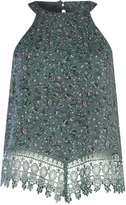 Alice & You **Alice & You Green Crochet Halterneck top