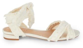 Schutz Belles Embellished Canvas Sandals