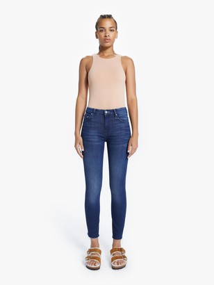 Mother The High Waisted Looker Ankle Fray - Tongue In Chic