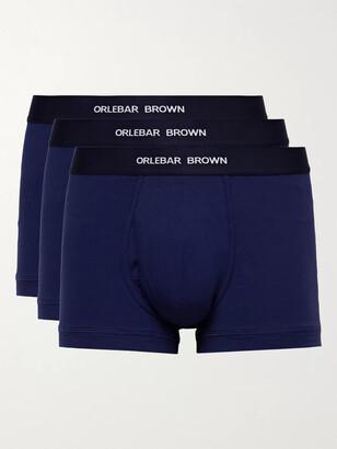 Orlebar Brown Three-Pack Stretch-Cotton Boxer Briefs - Men - Blue