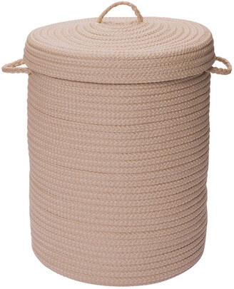 Colonial Mills Simply Home Solid Cuban Sand Hamper With Lid