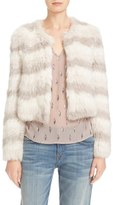 Joie Toshi Genuine Rabbit Fur Crop Jacket