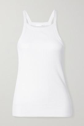 Skin Imogen Ribbed Stretch-pima Cotton Jersey Tank - White