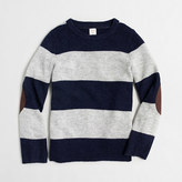 J.Crew Factory Factory boys' rugby-striped elbow-patch sweater