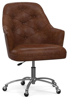 Pottery Barn Everett Leather Swivel Desk Chair