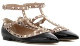 Valentino Garavani Rockstud patent leather ballerinas