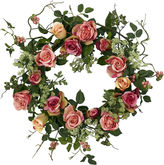 Asstd National Brand Nearly Natural 20 Rose Wreath