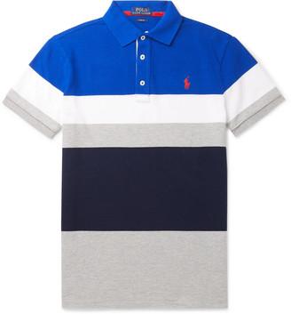 Polo Ralph Lauren Slim-Fit Striped Cotton-Pique Polo Shirt