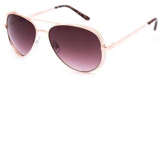 Full Tilt Sarah Gold Aviator Sunglasses