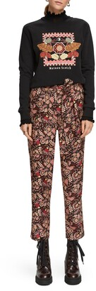 Scotch & Soda Floral Tie Waist Pants