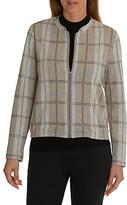 Betty Barclay Check Blouson Jacket, Taupe/Grey