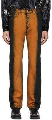 John Lawrence Sullivan Johnlawrencesullivan Orange Overdyed Jeans