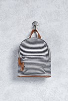 Forever 21 FOREVER 21+ Striped Canvas Mini Backpack