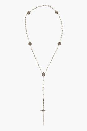 Pamela Love Antiqued silver Rosebud and Dagger Rosary