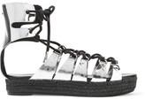 McQ Mirrored Leather Platform Sandals