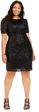 Adrianna Papell Plus Size Sequin Cocktail Dress