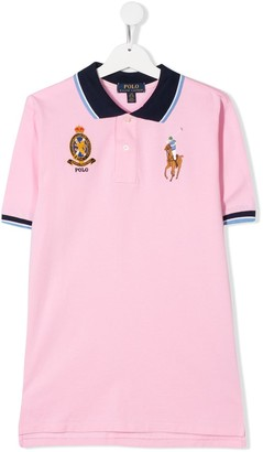 Ralph Lauren Kids TEEN embroidered logo pique polo shirt
