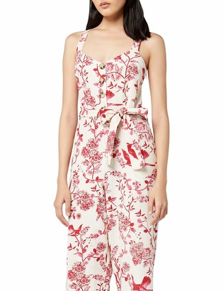 Amazon Brand - find. Women's Summer Linen Sleeveless Jumpsuit