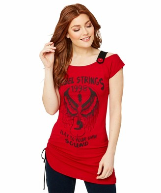 Joe Browns Women's Graffiti Print Cold Shoulder T-Shirt