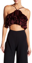 Do & Be Do + Be Satin Ruffle Cropped Shirt