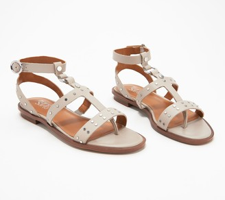 Franco Sarto Studded Leather Sandals - Madalaina