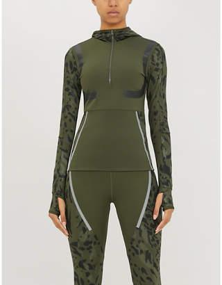 adidas by Stella McCartney Run camouflage-print stretch-jersey top