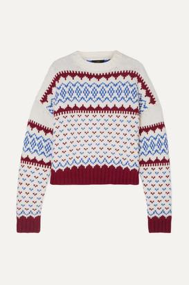 Alanui Fair Isle Wool And Cashmere-blend Sweater - Blue
