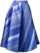 Vika Gazinskaya striped A-line skirt