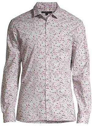 John Varvatos Fulton Slim-Fit Abstract Shirt