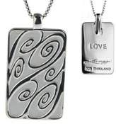 """Sterling Life Tag Pendant with 18"""" Chain by Steven Lavaggi"""