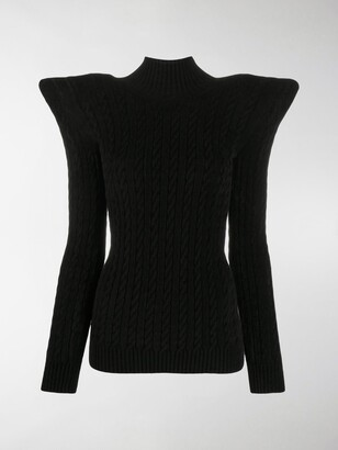 Balenciaga Pagoda structured knitted jumper
