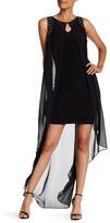 Sangria Embellished Popover Sleeveless Dress