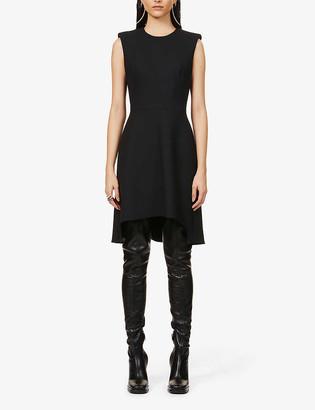 Alexander McQueen Sleeveless wool-blend mini dress