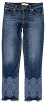 Tory Burch Embroidered Straight-Leg Jeans