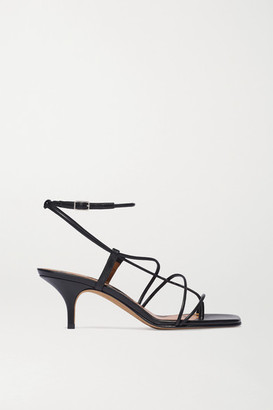 Emme Parsons Tobias Leather Sandals - Black