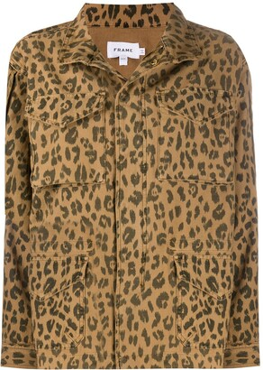 Frame Multi-Pocket Animal-Print Jacket