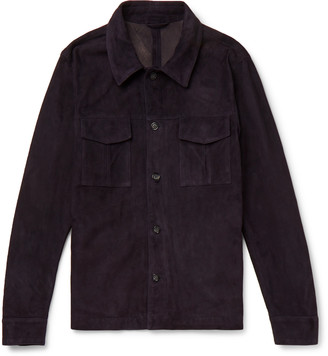 Valstar Slim-Fit Suede Shirt Jacket