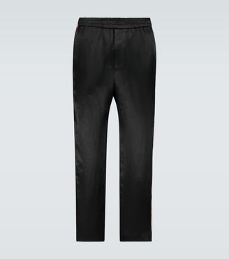 Gucci Interlocking G stripe satin pants