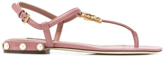 Dolce & Gabbana Amore thong sandals