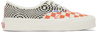 Vans Orange and Black Check OG Authentic LX Sneakers