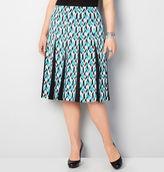 Avenue Chevron Godet Skirt