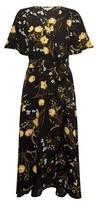 Dorothy Perkins Womens Billie & Blossom Multi Colour Floral Print Midi Dress