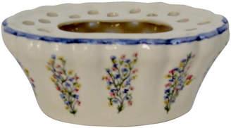 One Kings Lane Vintage French Porcelain Vase - Retro Gallery - cream/multi