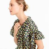 J.Crew Collection silk ruffle top in Ratti® midnight floral