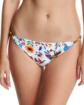 Milly Positano Italian Folkloric Floral-Print Swim Bottom, Multicolor