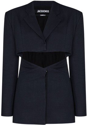 Jacquemus Single-Breasted Cut-Out Blazer