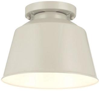 Feiss Exton 1-Light Flush Mount - Gray