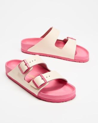 Birkenstock Women's Pink Flat Sandals - Arizona Narrow - Women's - Size 35 at The Iconic
