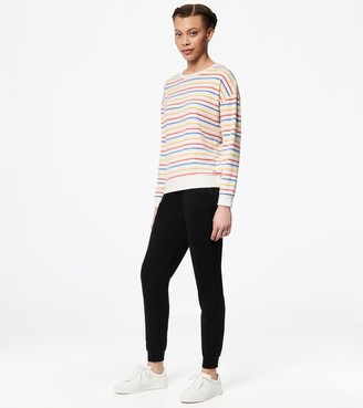 Mny Performance Long Sleeve Striped Drop Shoulder Pullover